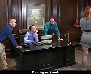 Submissive office breasty assistant lastly bonks her boss 26