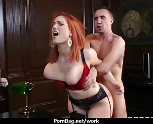 Submissive office busty assistant lastly bonks her boss 28