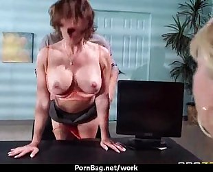 Busty working babes getting boned from behind 12