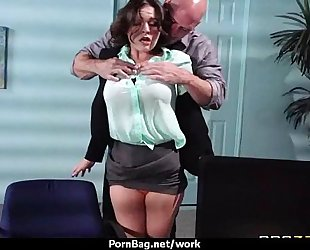 Hottest office fuck with breasty hottie 13