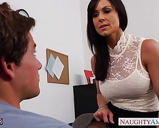 Office milf kendra longing receives drilled on the desk