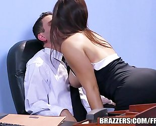 Brazzers.com - office stocking 3some