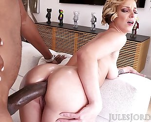 Jules jordan - jada stevens large a-hole dominatrix-bitch is back for greater amount bbc in her legendary booty