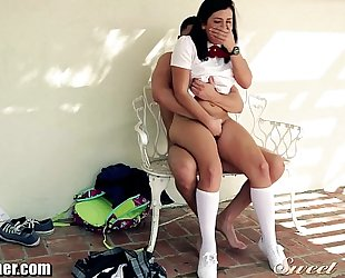 Schoolgirl keisha grey screwed outside