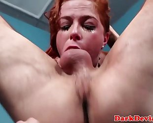 Redhead sexslave roughly throated balls unfathomable