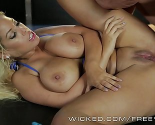 Wicked - asa akira and allies get gazoo drilled by strippers