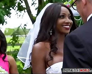 Black girl diamond jackson engulfing spouse tony d on wedding day