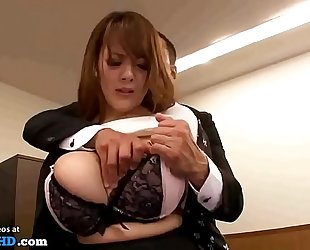 Japanese secretary with huge natural breasts - greater amount at elitejavhd.com