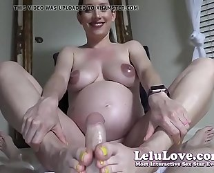 Lelu love-pov preggy footjob ejaculation on feet