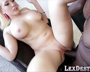 Busty kagney swallows lex large dark dong