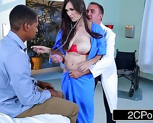 Dirty nurse holly michaels bonks in front of patients