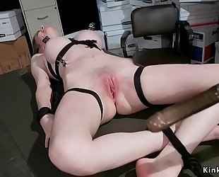Blonde acquires hard a-hole spanked and whipped