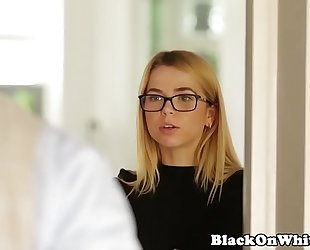Interracial tiny student throating bbc