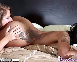 Sweetheart skin diamond interracial lesbo lovin