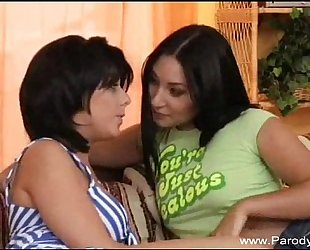 Strapon lesbo legal age teenagers and gmilf oral job!