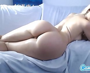 Anikka albrite large tit bigs butt golden-haired finger fucking her wazoo and cookie.