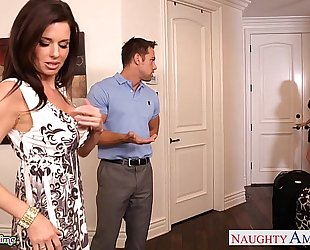 Brunettes india summer and veronica avluv share a large cock