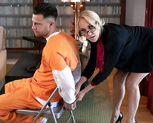 Glamorous MILF with big boobs fucked by cocky criminal