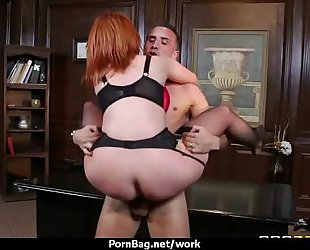 Sexy wild milf can't live without coarse sex at work two